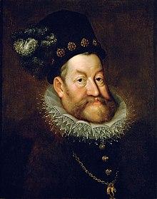 Rudolf II. na portrétu od Hanse von Aachen (~1606)