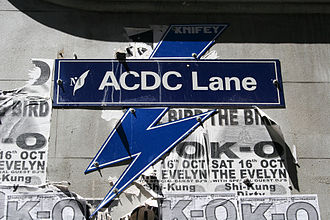 ACDC Lane - The street sign for ACDC Lane in Melbourne