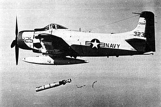 Mark 44 torpedo - AD-4 Skyraider launching Mark 44 torpedo