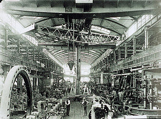 Moabit - The AEG turbine factory is an example of Moabit's industrial past.