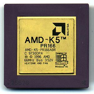 AMD K5 - An AMD K5 PR166 microprocessor