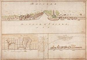 Basra - View of Basra in circa 1695, by Dutch cartographer Isaak de Graaf