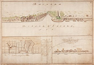 Basra - View of Basra in circa 1695, by Dutch cartographer Isaak de Graaf
