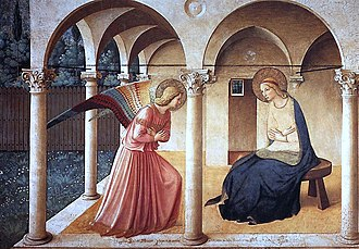Angels in art - Fra Angelico, The Annunciation, 1437-46