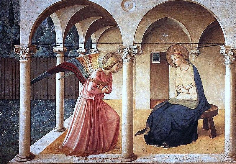 Ficheiro:ANGELICO, Fra Annunciation, 1437-46 (2236990916).jpg