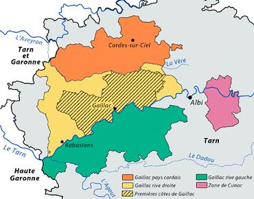 Carte Des Appellations De Vins Gaillac