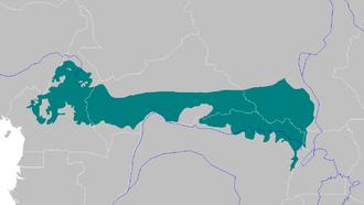 Northern Congolian forest-savanna mosaic - Map of Northern Congolian forest-savanna mosaic
