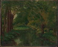 "A Brook in a Clearing (possibly ""Brook, Valley of Fontcouverte; Study"") MET DP302937.jpg"