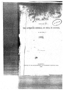 A Collection of the Acts passed by the Governor General of India in Council, 1893.pdf
