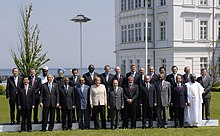 A Group photo of Leaders of G-8, Outreach five countries and Africa Outreach countries at G 8 Summit in Heiligendamm, Germany on June 08, 2007.jpg