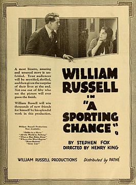 Advertentie voor A Sporting Chance