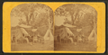 A family sitting under an awning, tents beyond, from Robert N. Dennis collection of stereoscopic views.png