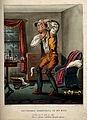A hypochondriac with something in his eye. Coloured aquatint Wellcome V0010882.jpg