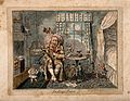 A man suffering from indigestion; suggested by little charac Wellcome V0011144.jpg