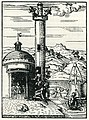 A muezzin calls the faithful to come and pray at the mosque - Thevet André - 1556.jpg
