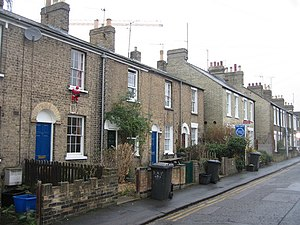Covent Garden, Cambridge - Terraced houses in Covent Garden, Cambridge.