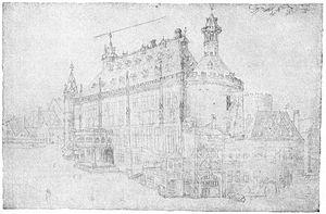 Aachen Rathaus - Drawing by Albrecht Dürer in 1520