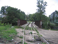 Abandoned railway bridge, Obvodny kanal.JPG