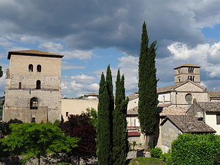 Farfa Abbey Church in Fara in Sabina, Italy