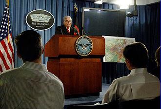 Abdul Rahim Wardak - Abdul Rahim Wardak speaking at the Pentagon in 2006.