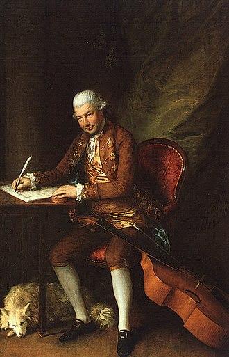 Carl Friedrich Abel - Portrait of Carl Friedrich Abel by Thomas Gainsborough, 1777