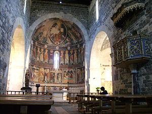 Basilica di Saccargia - Image: Abtei von Saccargia Fresken der Apsis