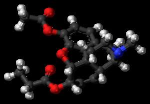 Acetylpropionylmorphine - Image: Acetylpropionylmorph ine molecule ball