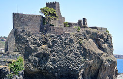 The Norman castle of Aci Castello