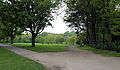 Across park with paths towards west from the Stable Block at Wollaton Park, Nottingham, England.jpg