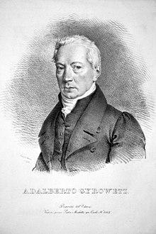 Adalbert Gyrowetz, Lithographie von Josef Kriehuber, 1828 (Quelle: Wikimedia)