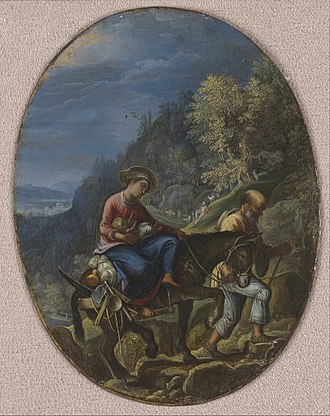 Adam Elsheimer - Image: Adam Elsheimer The Flight into Egypt Google Art Project