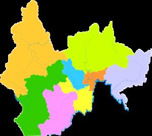 Yanbian Korean Autonomous Prefecture - Image: Administrative Division Yanbian