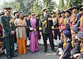 Admiral DK Joshi, Chief of Naval Staff, interacting with NCC Cadets.jpg