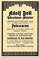 Adolf Doll, Kürschner-Meister, Berlin, 1911 (Anzeige).JPG