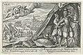 Aeneas trekt zijn nieuwe wapenrusting aan Speculum Aeneidis Virgilianae (serietitel), RP-P-OB-16.024.jpg