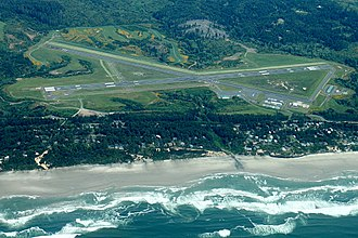 Newport Municipal Airport (Oregon) - Image: Aerial Newport Oregon Airport May 2012