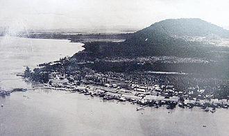 Tawau - An aerial view of Tawau town in 1947.
