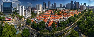 Kampong Glam - Aerial perspective of Kampong Glam. October 2018.