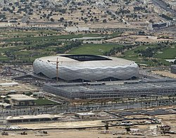 Aerial view of Education City Stadium and Oxygen Park in Al Rayyan (Education City Stadium).jpg