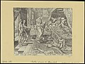 Ahasuerus Consulting The Book of Chronicles 1564 print by Maarten van Heemskerck, S.I 55694, Prints Department, Royal Library of Belgium.jpg