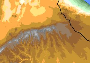 Ahmar Mountains - Image: Ahmar Mountains