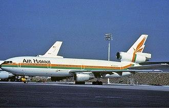 Air Hawaii - Air Hawaii McDonnell Douglas DC-10 N905WA at Oakland International Airport in 1983.