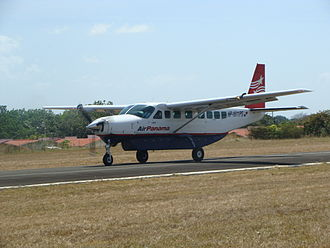 Air Panama - The Cessna 208 Caravan, used primarily on regional routes across Panama.