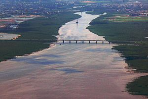 Airoli Bridge - Aerial view of Airoli bridge