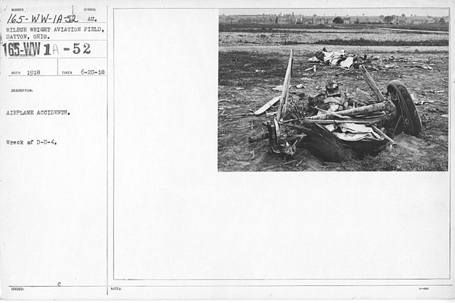 File:Airplanes - Accidents - Airplane Accident  Wreck of D-H-4