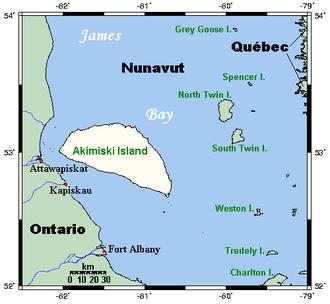 Akimiski Island - Closeup of Akimiski Island