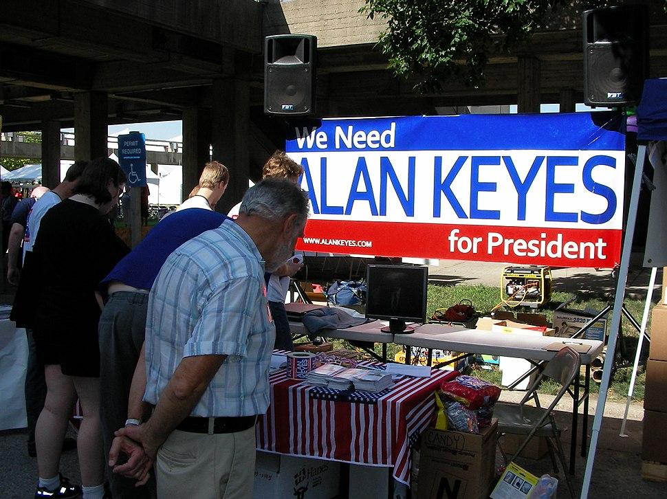 Alan Keyes booth