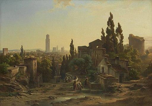 Albert Emil Kirchner - Ansicht von Verona, vom Giardino Giusti aus gesehen - 11624 - Bavarian State Painting Collections