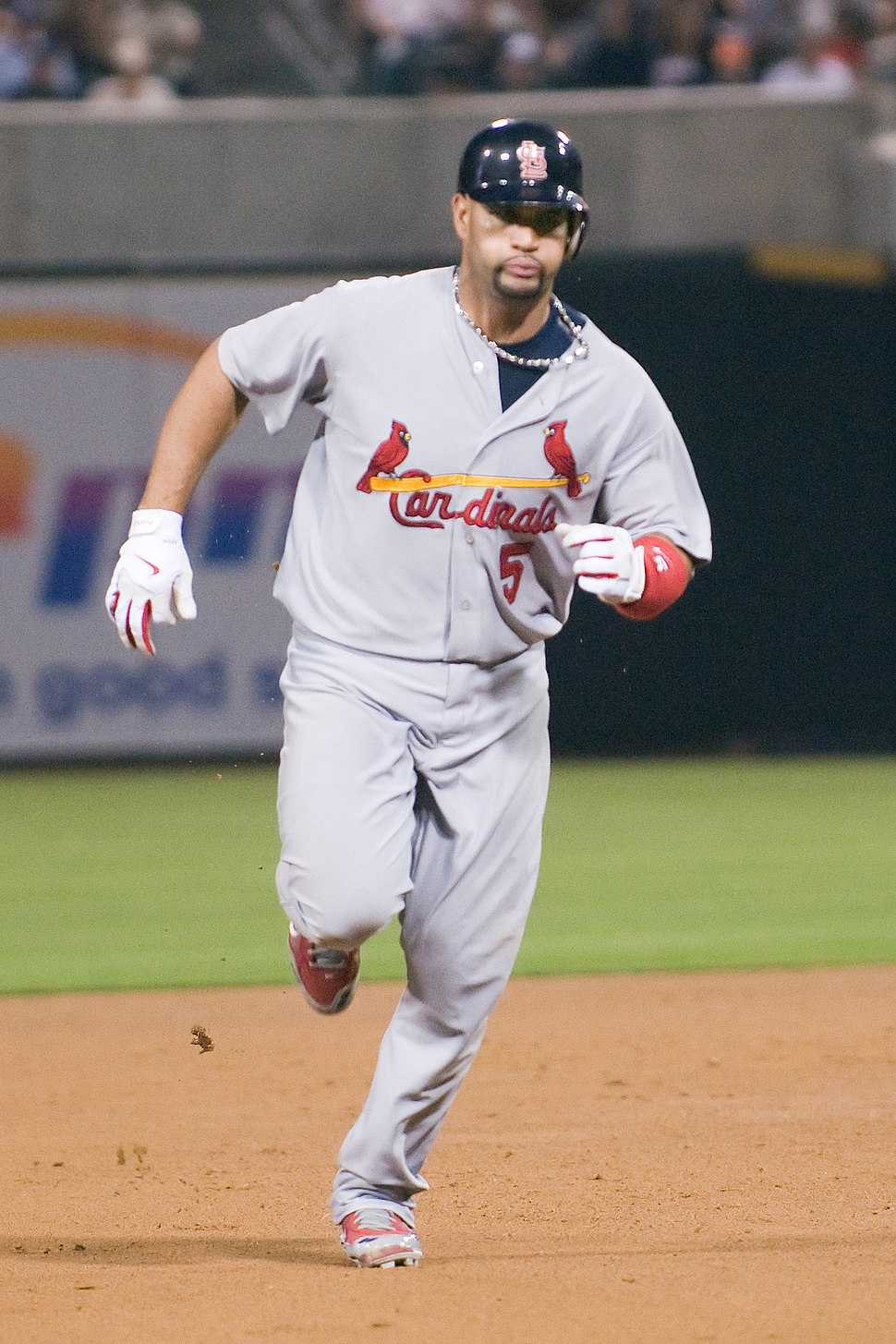 Albert Pujols running the bases