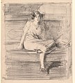 Albert de Belleroche - Untitled (Young Lady Seated) - 2016.101 - Cleveland Museum of Art.jpg